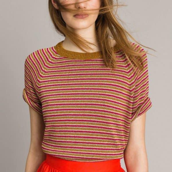 Lurex striped jumper