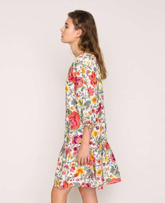 שמלה פרחונית רקומה