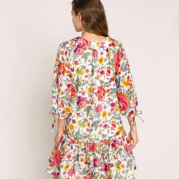 Sugar Coral Floral Print Dress