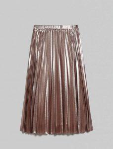 חצאית פליסה מבד מטאלי