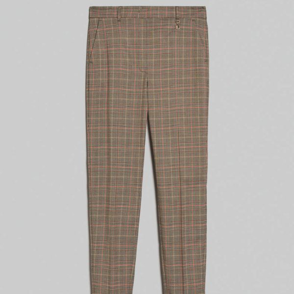 מכנס בסגנון סקוטי גזרה צרה שחור לבן