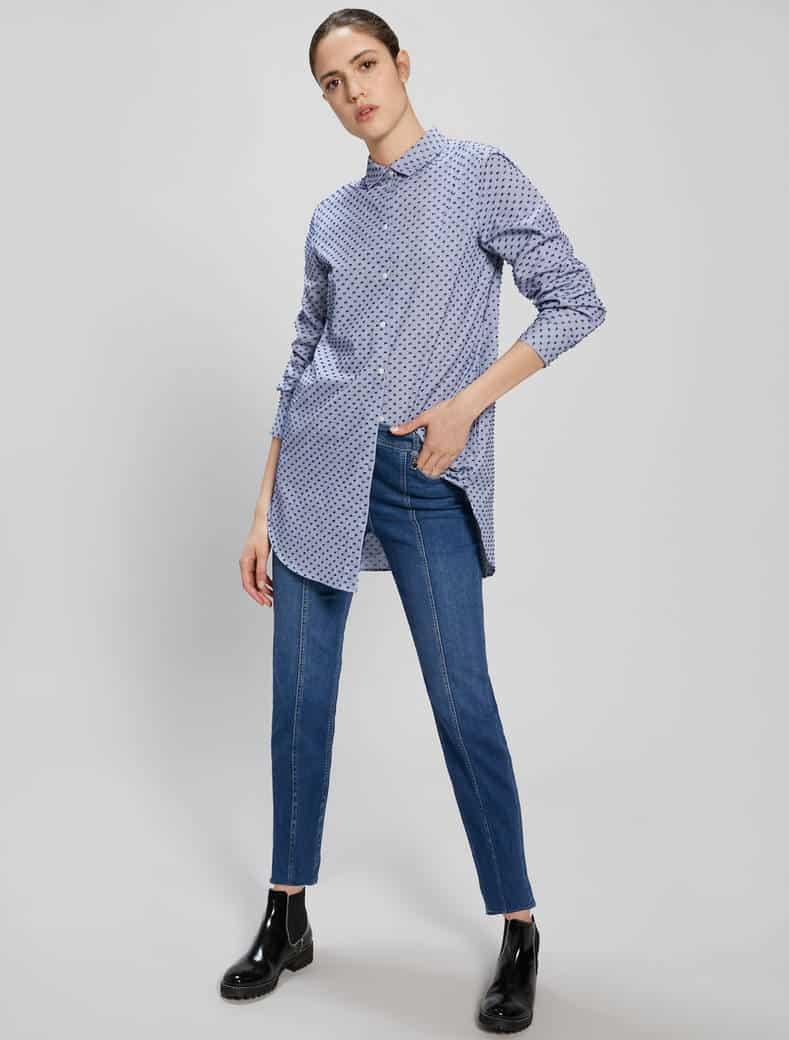 חולצה מכופתרת גברית, גווני כחול