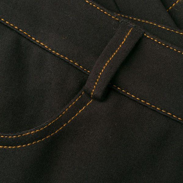 מכנס שחור בגזרת ג'ינס