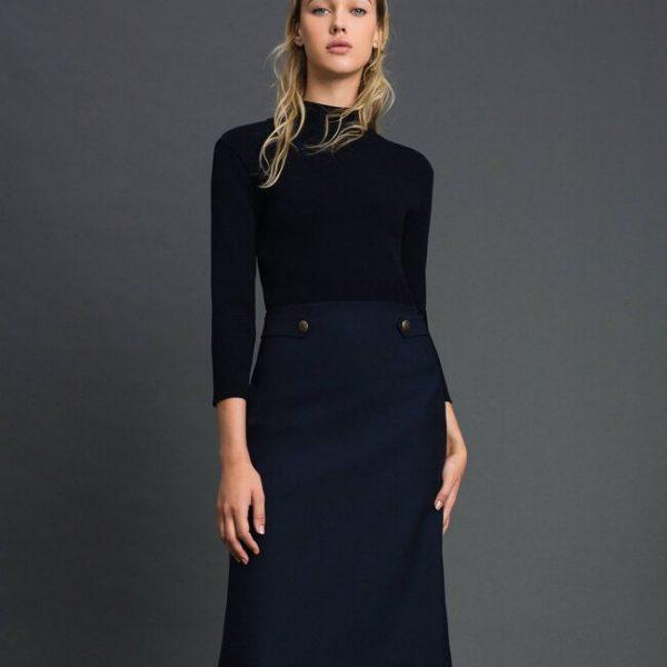 שמלהמשולבת סריג וצאית ויסקוזה