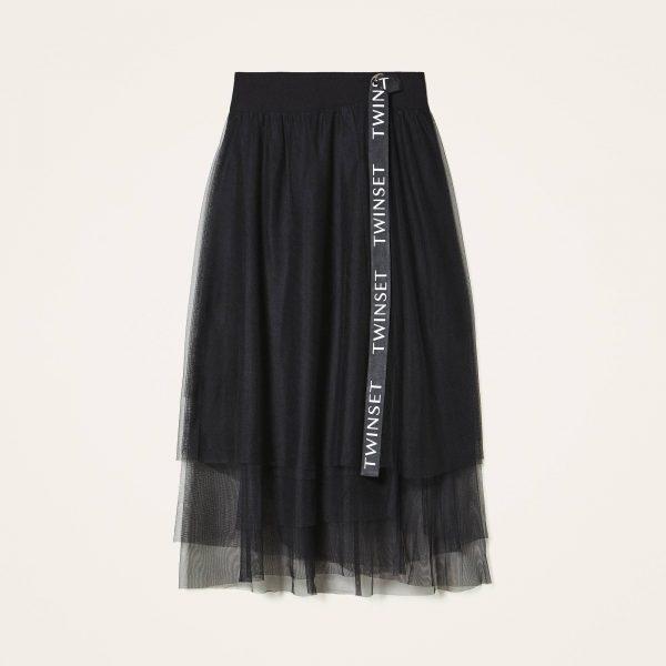 חצאית טול עם חגורה של טווין-סט