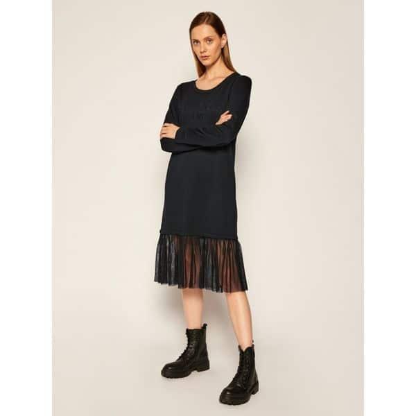 שמלת כותנה עם חצאית טול
