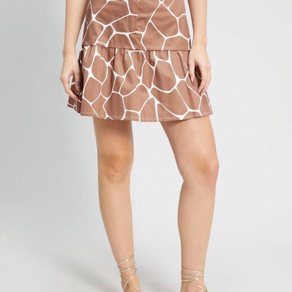 חצאית קצרה מנומרת