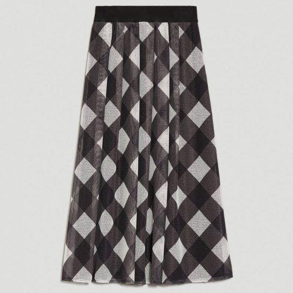 חצאית רשת משובצת