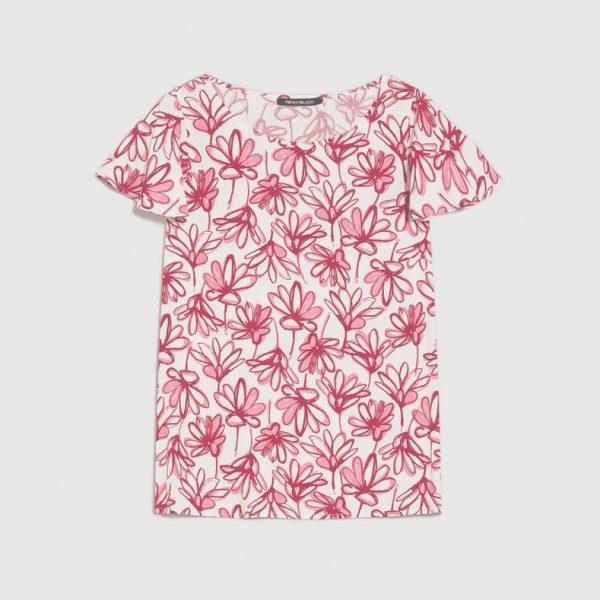 חולצת פרחים היפיים אדומים