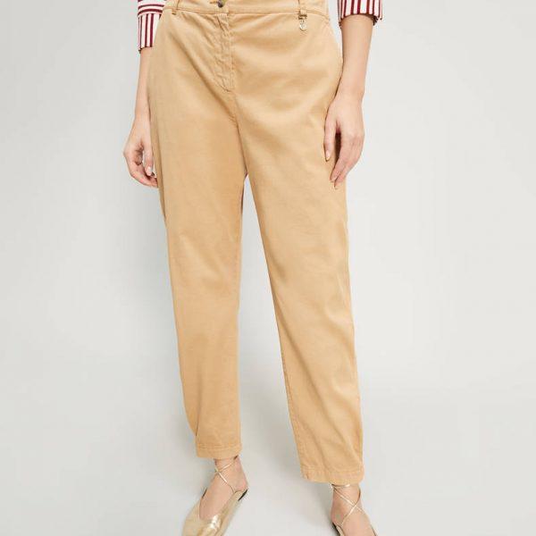 מכנסיים מכותנה בגזרה ישרה