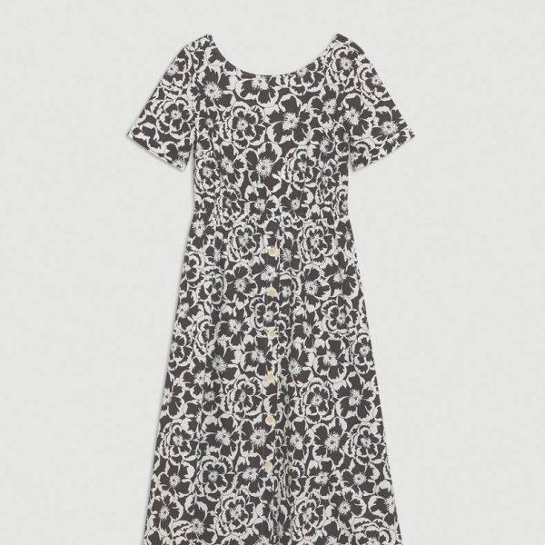 שמלת כותנה פרחונית