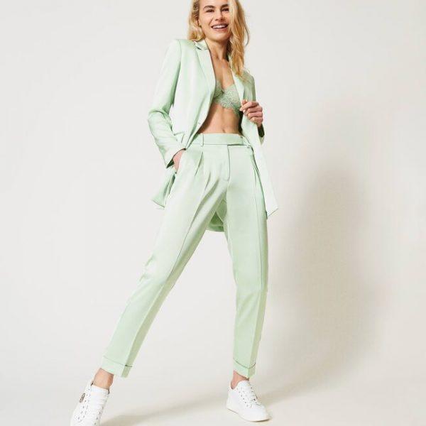 מכנס מחויט בצבע ירוק בהיר