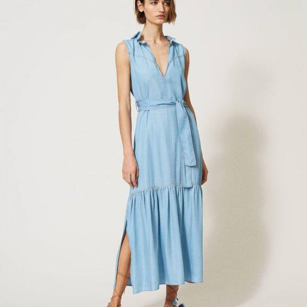 שמלת ג'ינס עם קשירה