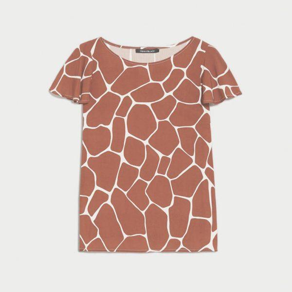 חולצה חומה בהדפס מיוחד